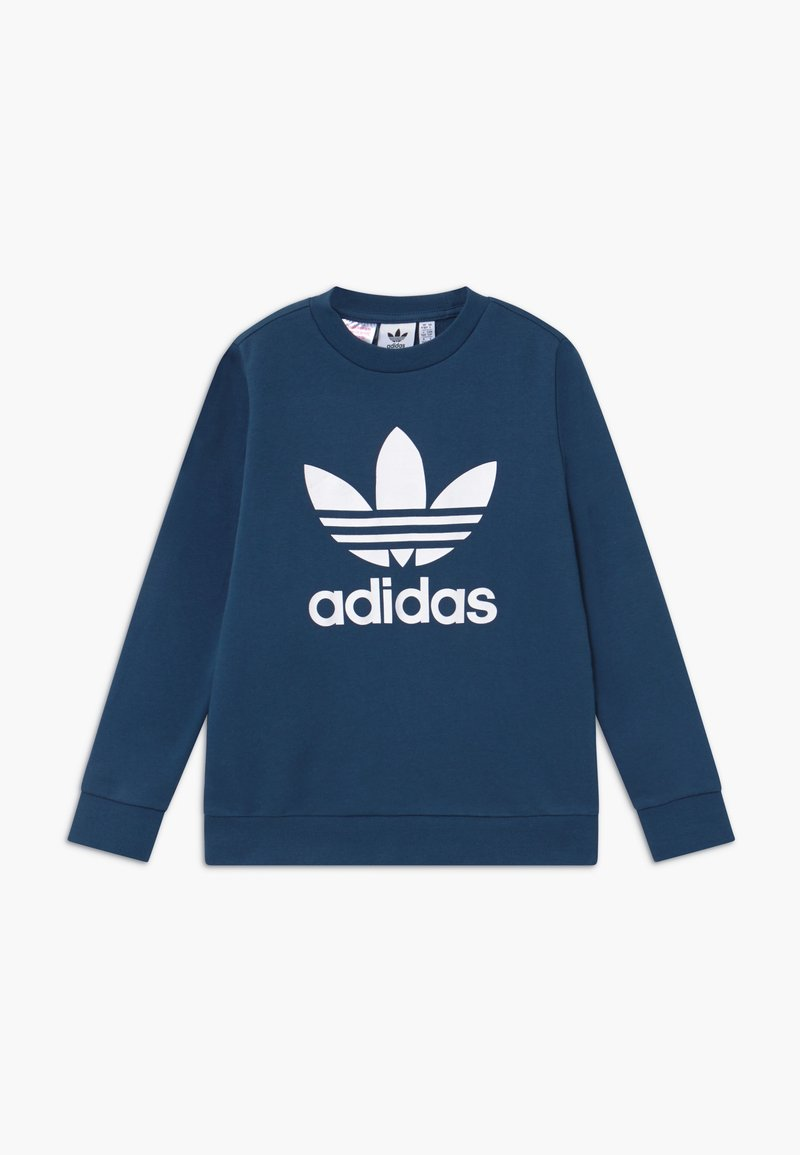 adidas Originals - TREFOIL CREW - Felpa - dark blue/white
