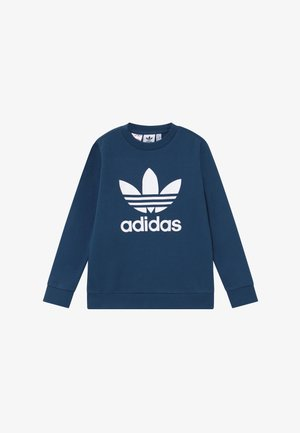 TREFOIL CREW - Sweater - dark blue/white