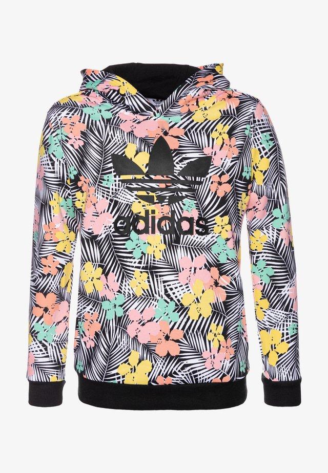 HOODIE - Bluza z kapturem - black/multicolor/glow pink