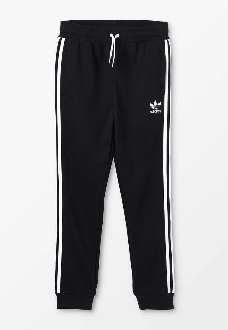 adidas Originals - TREFOIL PANTS - Verryttelyhousut - black/white
