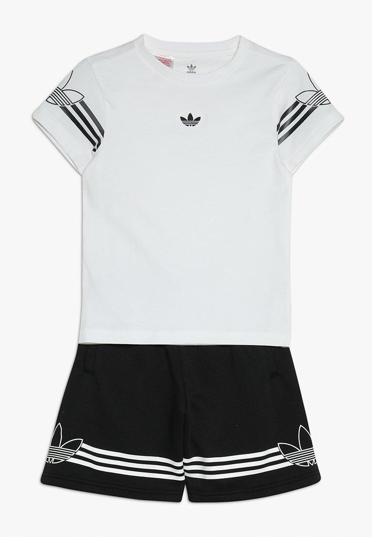 adidas Originals - OUTLINE TEE SET - Shorts - black/white