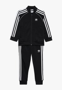 adidas Originals - SUPERSTAR SUIT - Tracksuit - black/white - 0