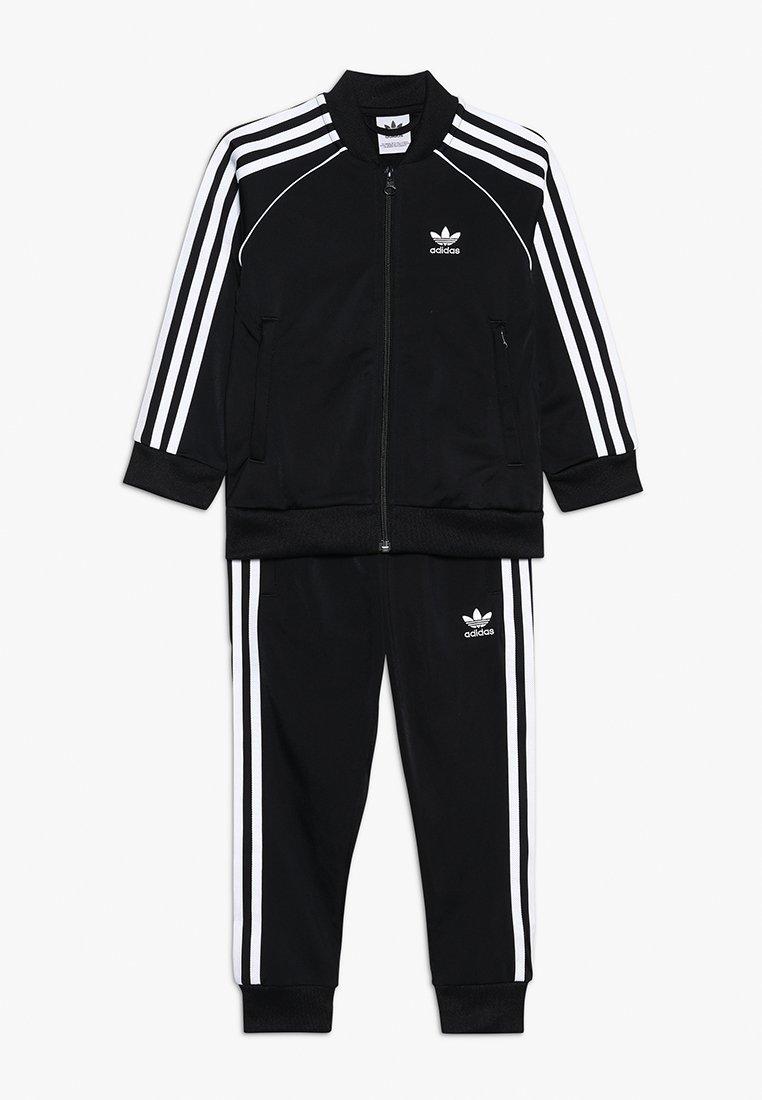 adidas Originals - SUPERSTAR SUIT - Tracksuit - black/white