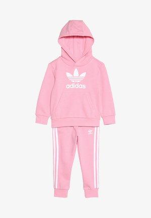 TREFOIL HOODIE SET - Sweat à capuche - light pink/white