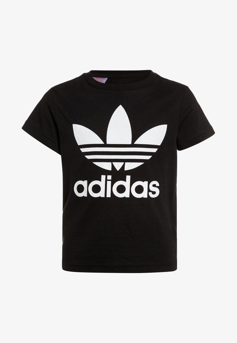 adidas Originals - TEE - T-shirt med print - black/white