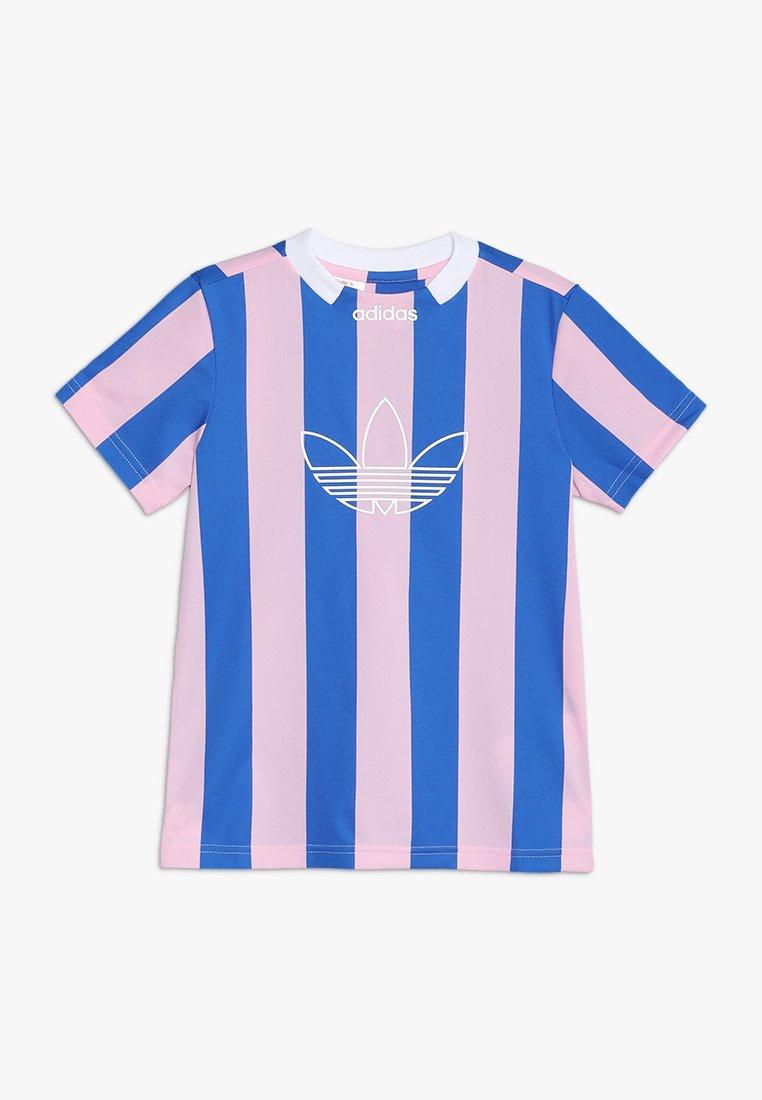 adidas Originals - ED STRIPE - T-shirts print - true pink/blue