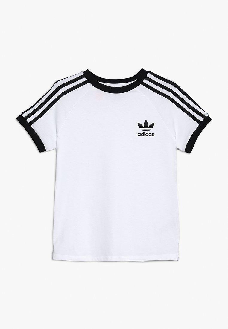 adidas Originals - 3 STRIPES TEE - Printtipaita - white/black