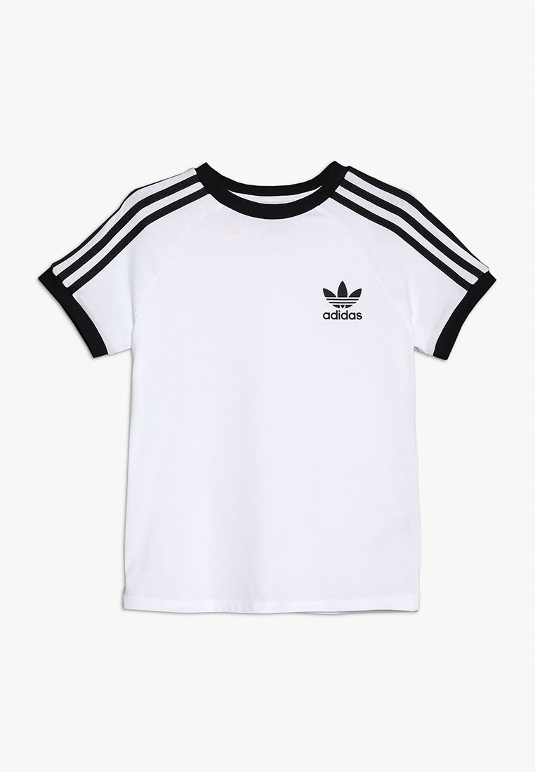 adidas Originals - 3 STRIPES TEE - Print T-shirt - white/black