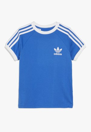 3 STRIPES TEE - Triko s potiskem - blue bird/white