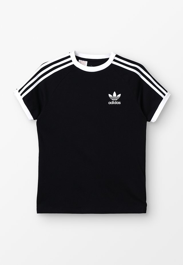 3 STRIPES TEE - Camiseta estampada - black/white