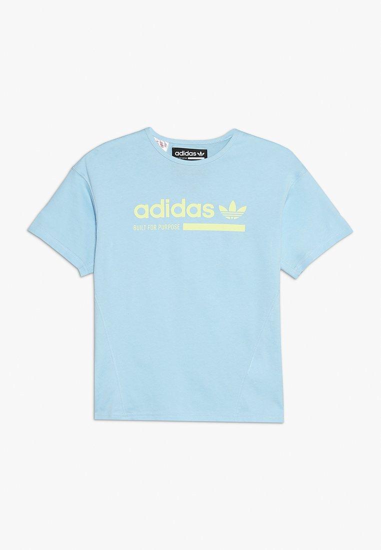 adidas Originals - KAVAL TEE - T-shirts print - clear sky/semi frozen yellow