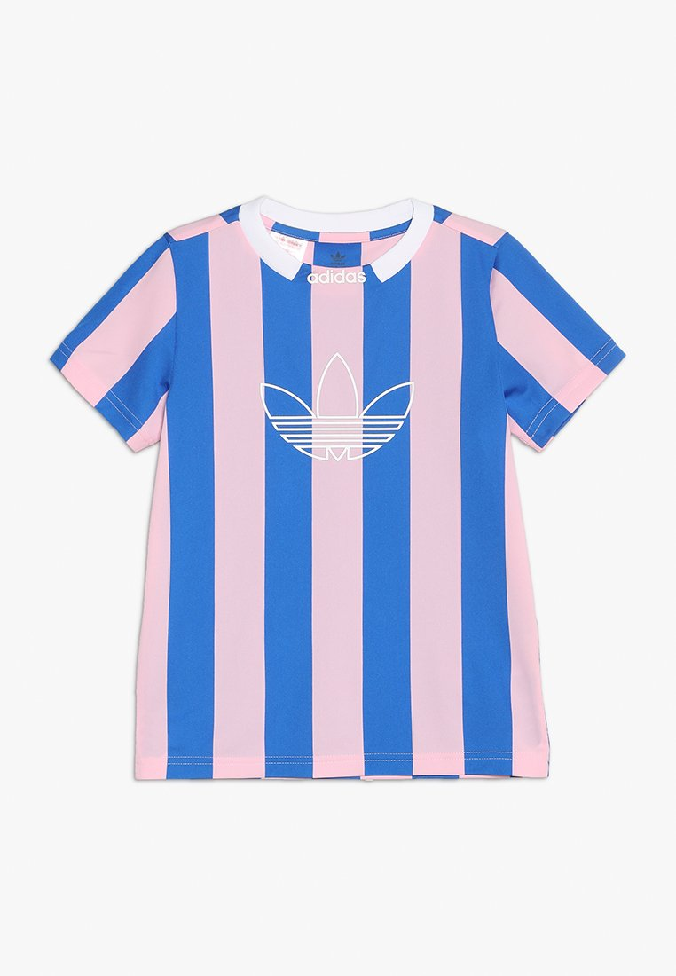 adidas Originals - ED STRIPES - T-shirt print - true pink/blue