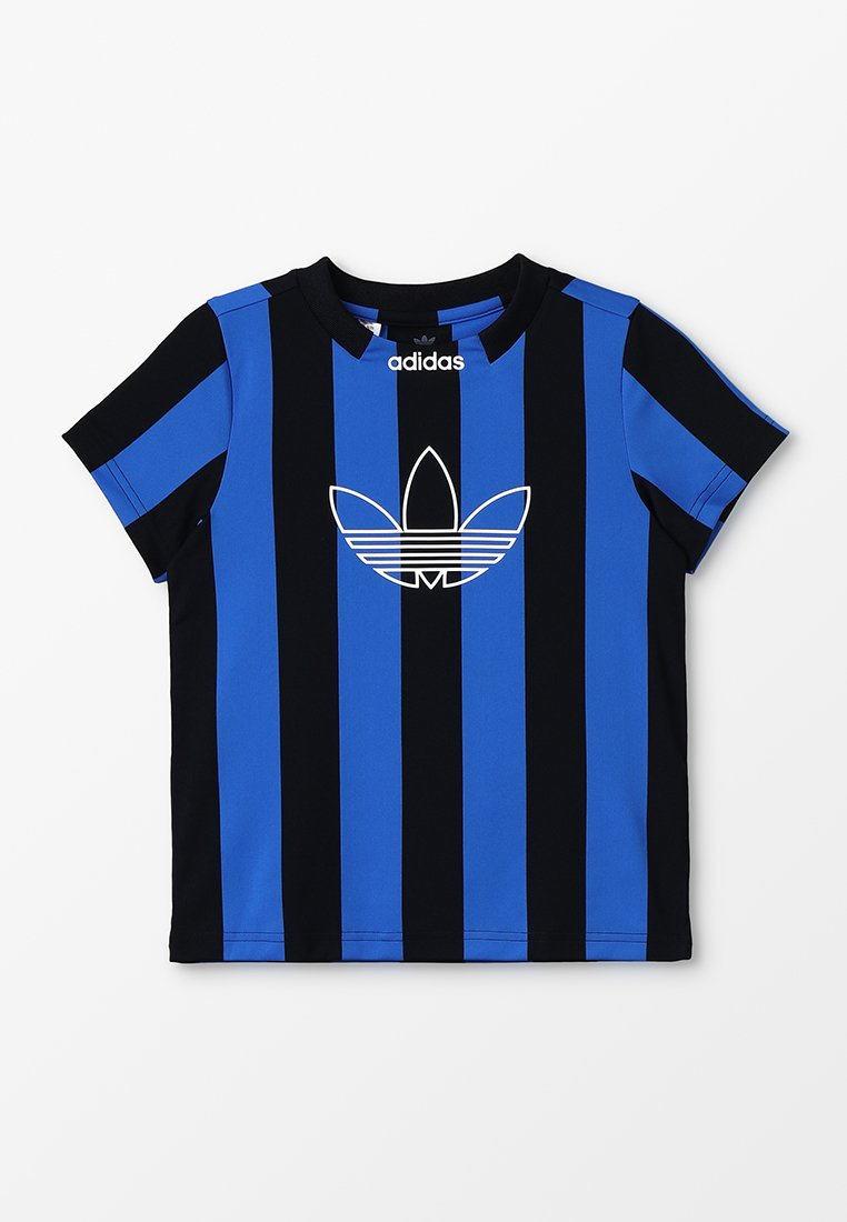 adidas Originals - ED STRIPES - T-Shirt print - black/blue
