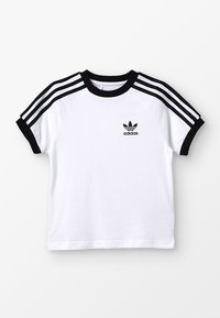adidas Originals - 3 STRIPES TEE - Triko s potiskem - white/black - 0