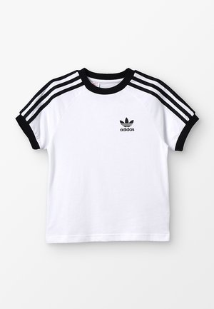 3 STRIPES TEE - T-shirt z nadrukiem - white/black