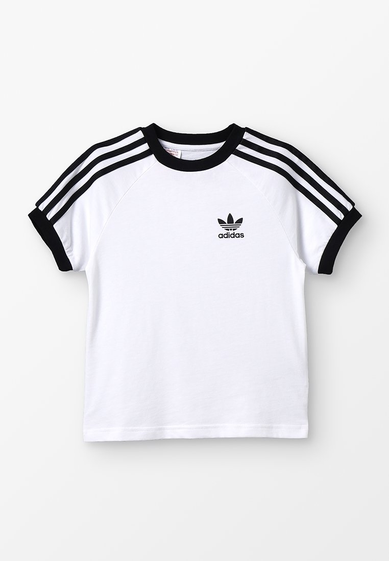 adidas Originals - 3 STRIPES TEE - T-shirt con stampa - white/black
