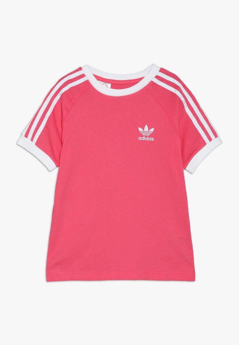 adidas Originals - 3 STRIPES TEE - Triko spotiskem - real pink/white