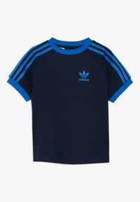 adidas Originals - 3 STRIPES TEE - Print T-shirt - collegiate navy/blue - 0