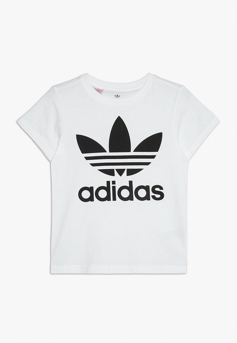 adidas Originals - TREFOIL - T-shirt print - white/black