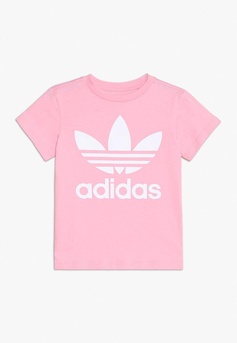 adidas Originals - TREFOIL - Print T-shirt - light pink/white