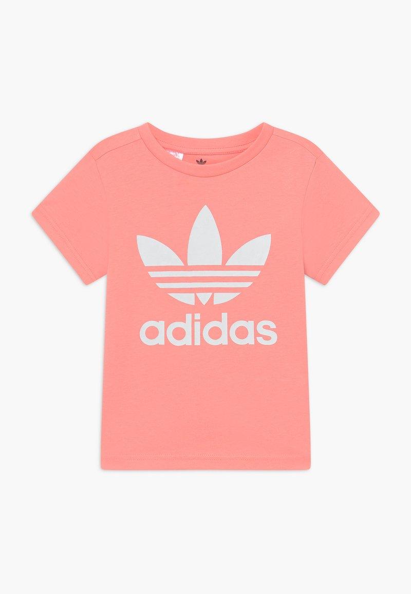 adidas Originals - TREFOIL - Print T-shirt - pink/white