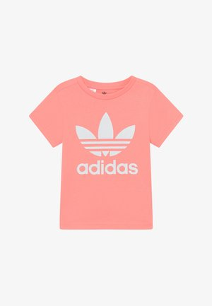 TREFOIL - Print T-shirt - pink/white