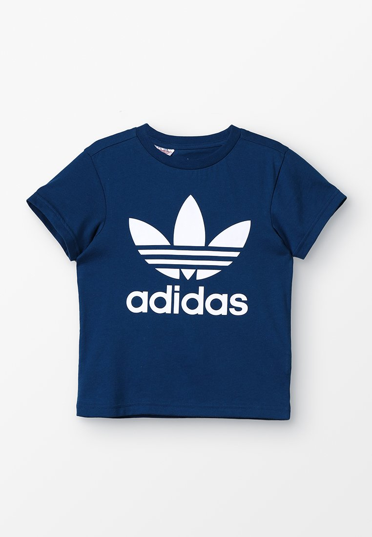 adidas Originals - TREFOIL - Print T-shirt - legend marine/white