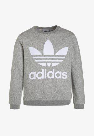 CREW - Sweatshirt - medium grey heather/white