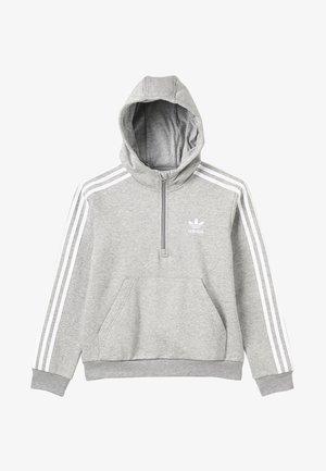 HALFZIP HOODIE - Hoodie - medium grey heather/white