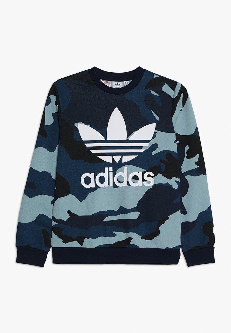 adidas Originals - CAMO CREW - Sweatshirt - multicolor/white
