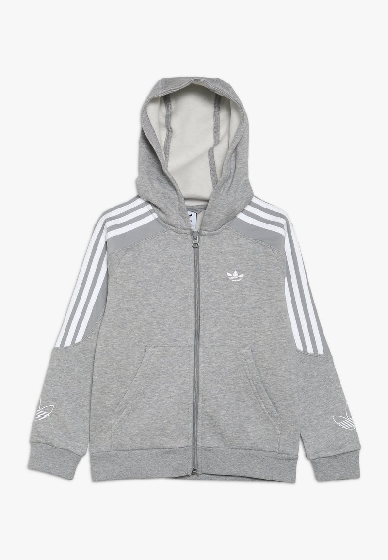adidas Originals - OUTLINE HOODIE - Zip-up hoodie - grey