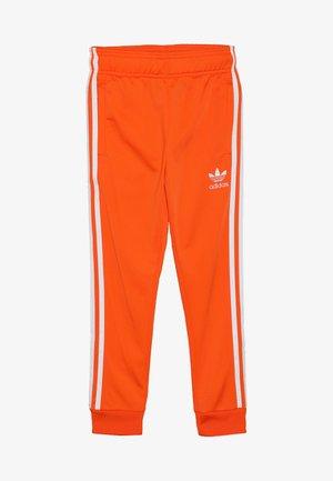 SUPERSTAR PANTS - Pantaloni sportivi - orange/white