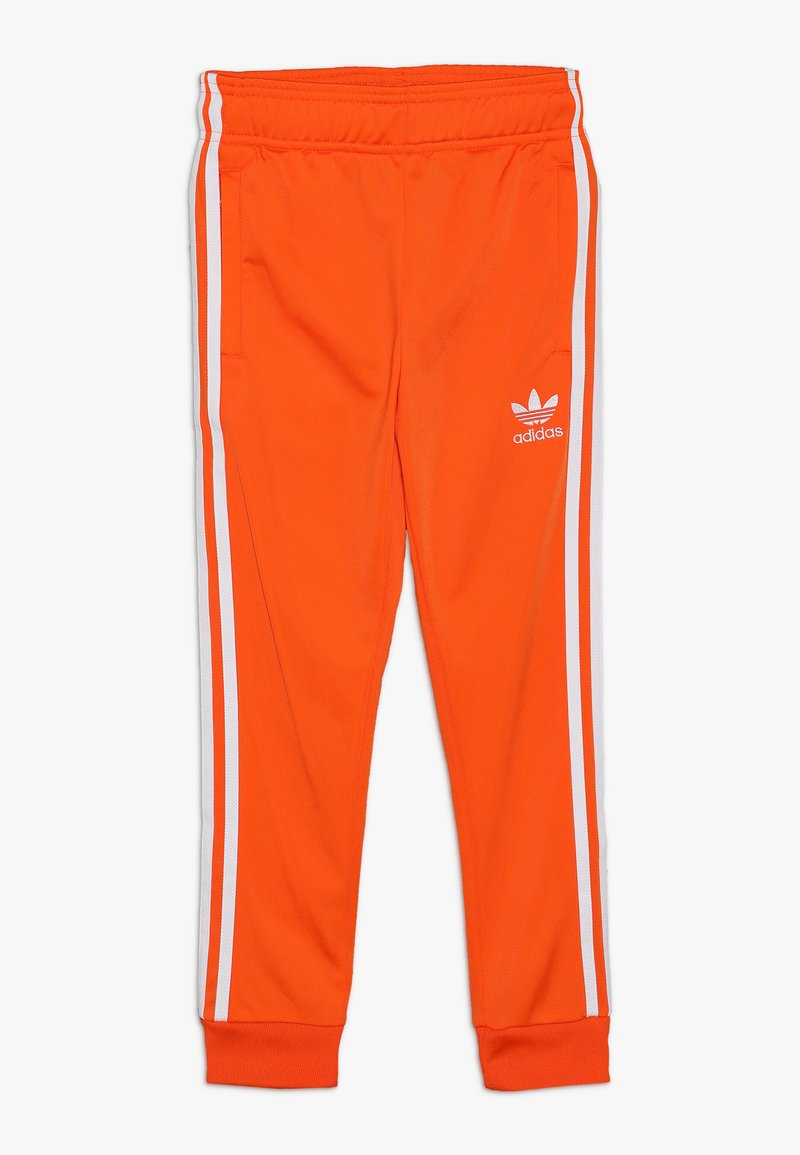 adidas Originals - SUPERSTAR PANTS - Pantaloni sportivi - orange/white