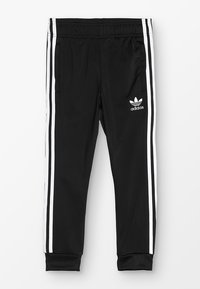 adidas Originals - SUPERSTAR PANTS - Pantalones deportivos - black/white - 0