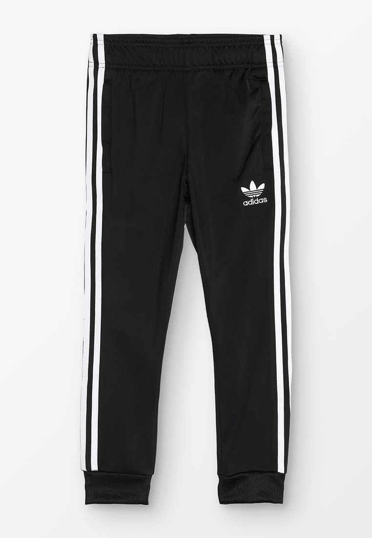 adidas Originals - SUPERSTAR PANTS - Tracksuit bottoms - black/white