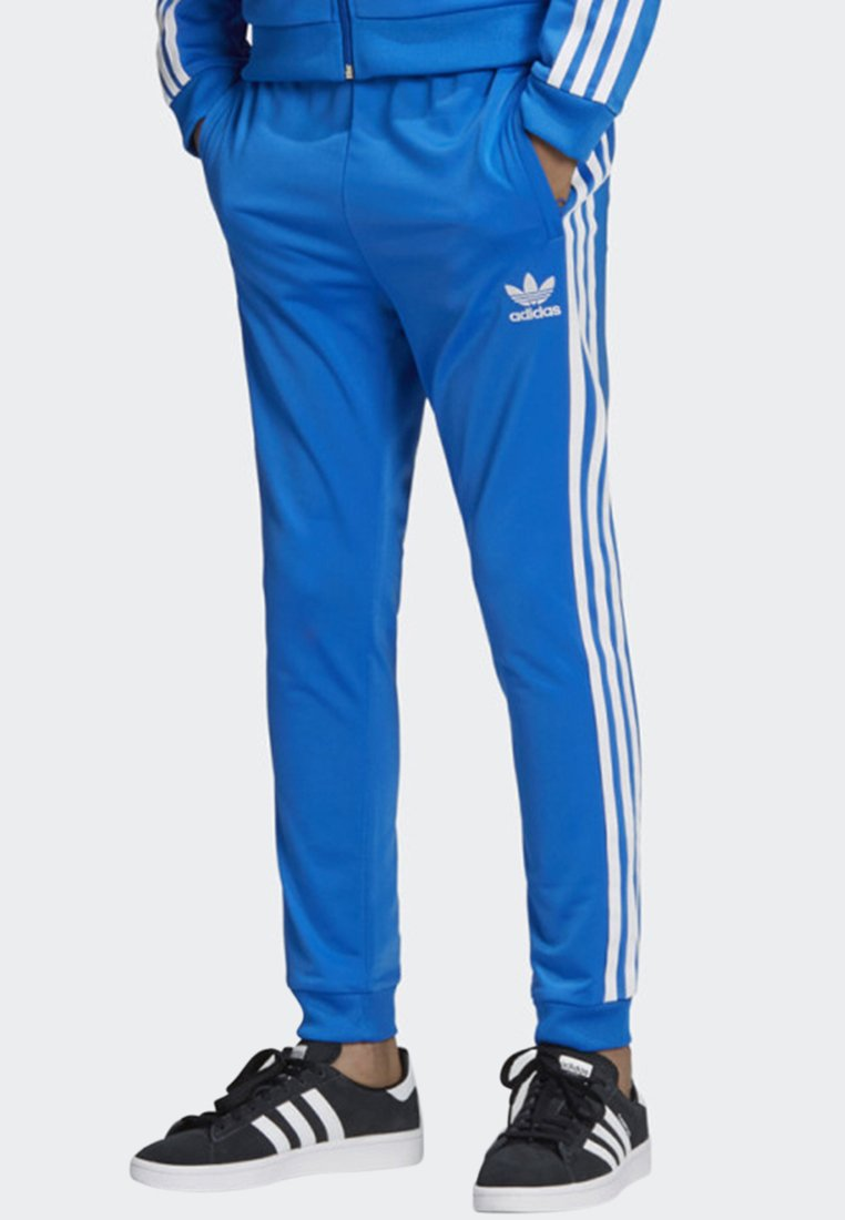 adidas Originals - SST TRACKSUIT BOTTOMS - Pantaloni sportivi - blue/white