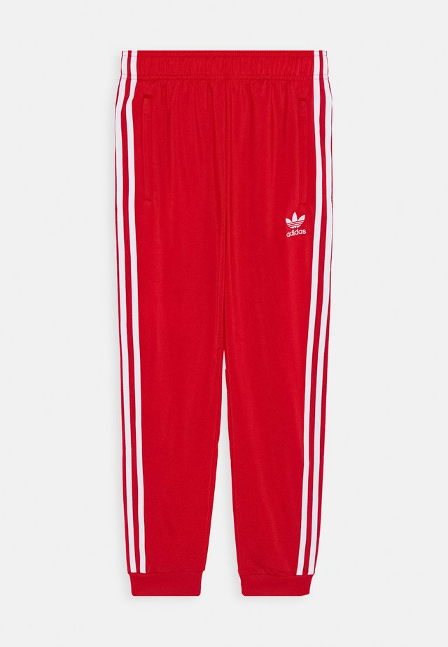TRACKPANT - Trainingsbroek - scarle/white