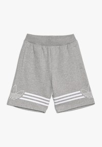 adidas Originals - OUTLINE - Kraťasy - medium grey heather/white - 0