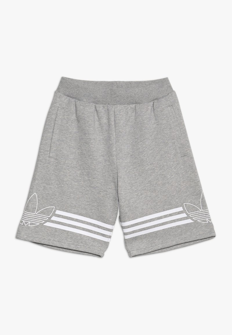 adidas Originals - OUTLINE - Kraťasy - medium grey heather/white