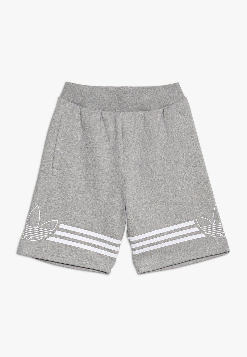 adidas Originals - OUTLINE - Kraťasy - medium grey heather/white