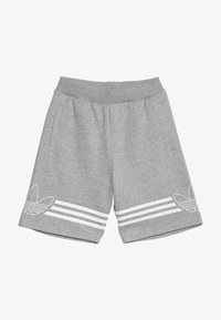 adidas Originals - OUTLINE - Kraťasy - medium grey heather/white - 3