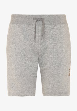 LOGO - Tracksuit bottoms - medium grey heather/scarlet