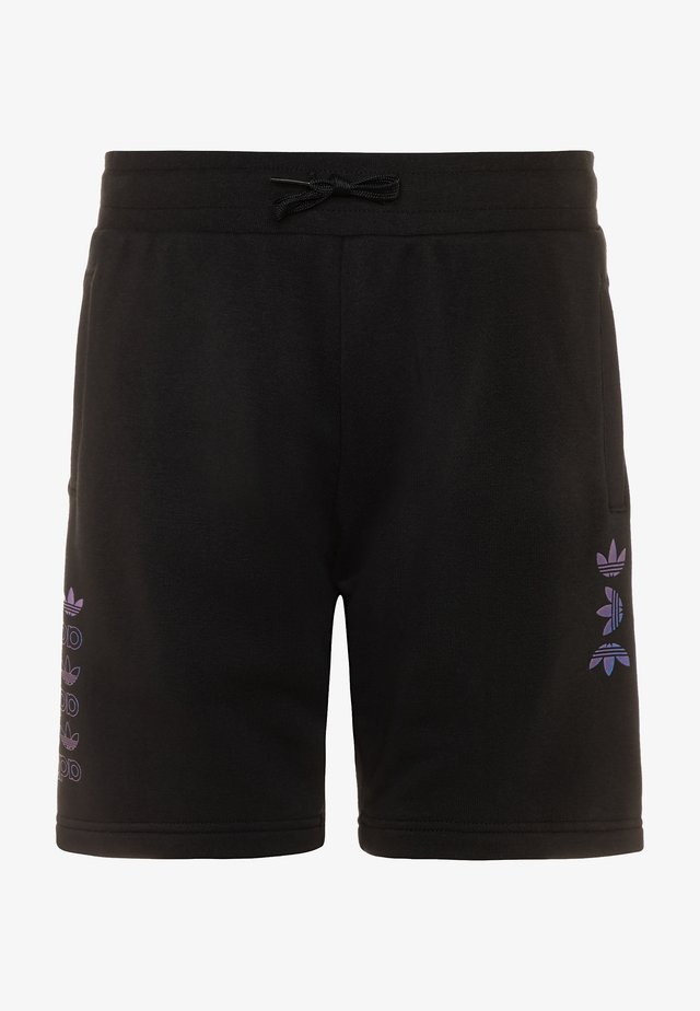 LOGO - Pantalones deportivos - black/royal blue