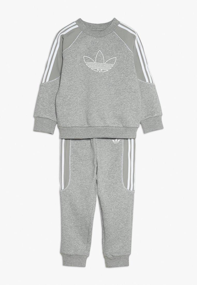adidas Originals - SET - Sweater - medium grey heather/white
