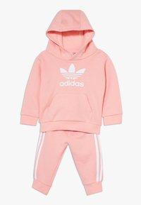adidas Originals - TREFOIL HOODIE SET - Trainingspak - glow pink/white - 0