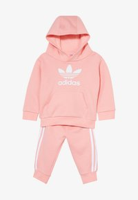 adidas Originals - TREFOIL HOODIE SET - Trainingspak - glow pink/white - 4