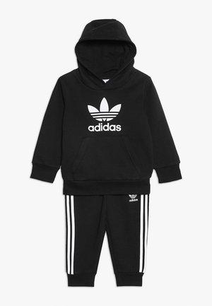 TREFOIL HOODIE SET - Dres - black/white
