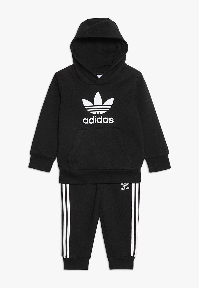 adidas Originals - TREFOIL HOODIE SET - Trainingsanzug - black/white