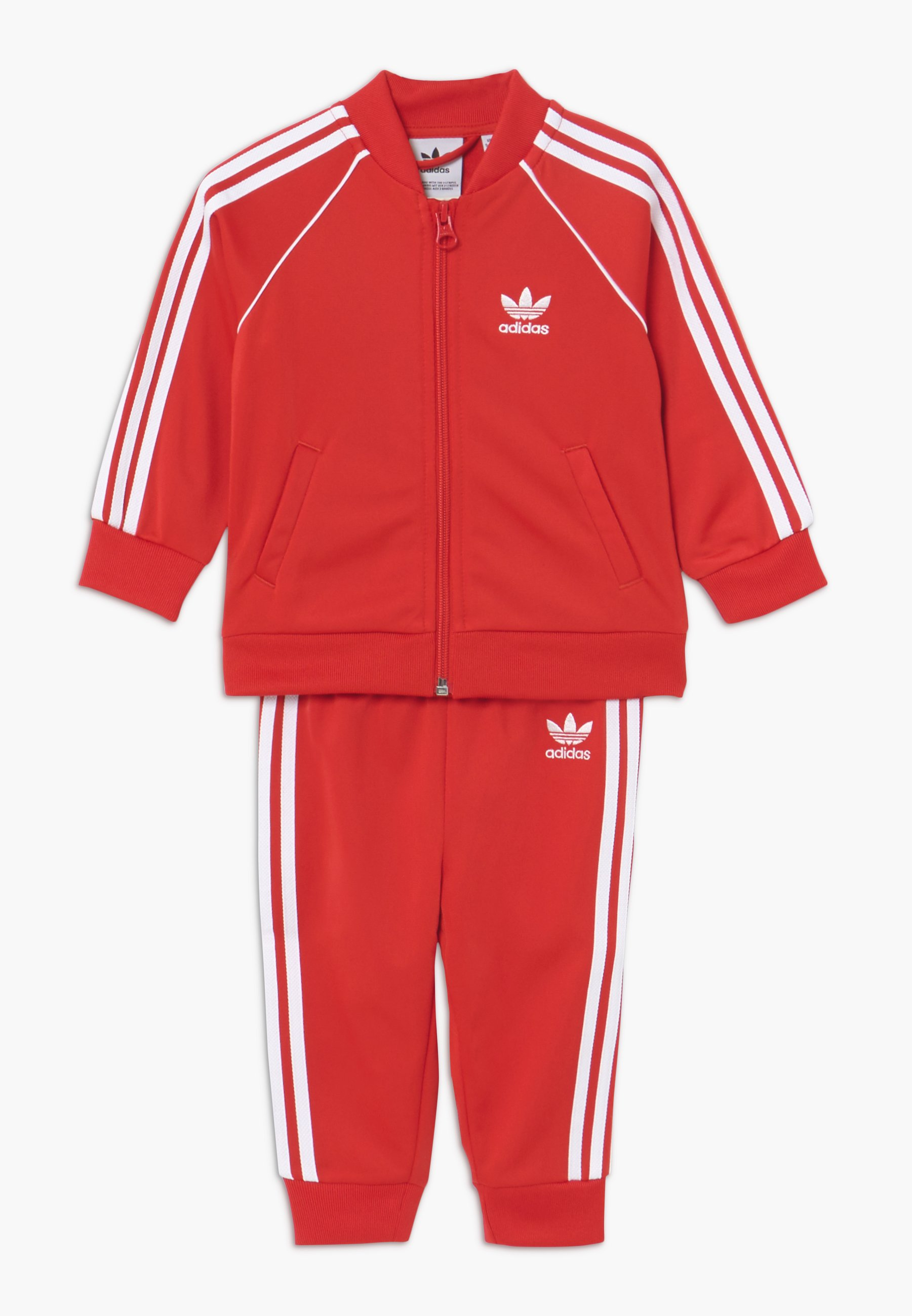 adidas Originals Zip Crew Track Top RedC WhiteN Indigo
