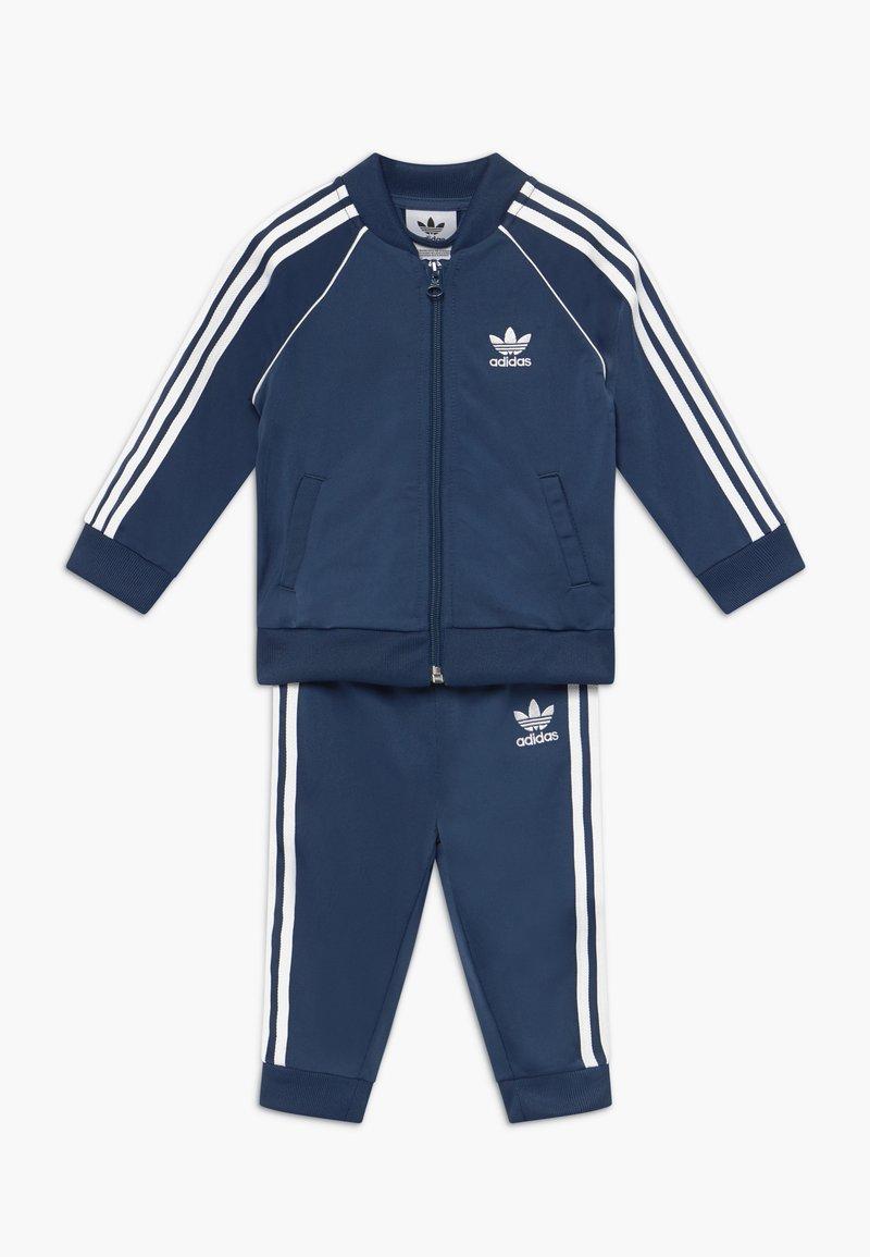 adidas Originals - SUPERSTAR SET - Huvtröja med dragkedja - dark blue, white